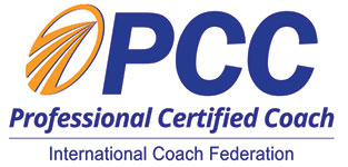 Professional Certified Coach - Cella Hartline - PCC Logo - Life Coaching - Enlightened Way New Day